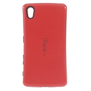 IFACE MALL PC and Non-slip TPU Shell for Sony Xperia Z5 / Z5 Dual - Red