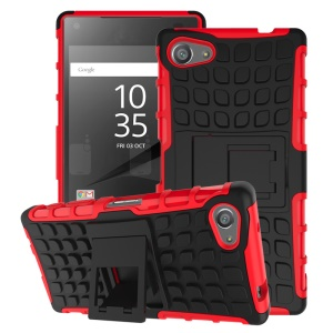 Two Pieces Anti-slip PC + TPU Hybrid Shell Case Cover for Sony Xperia Z5 Compact - Red