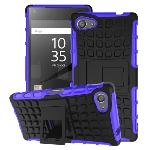 Two Pieces Anti-slip PC + TPU capa de capa híbrida para Sony Xperia Z5 Compact - roxo