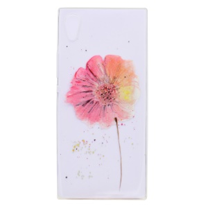 Ultra-fino Patterned Soft TPU Back Phone Case para Sony Xperia XA1 - Galsang Flower