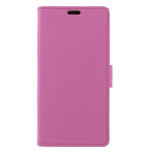 PU Leather Wallet Stand Folio Mobile Phone Shell for Sony Xperia XZ1 - Rose