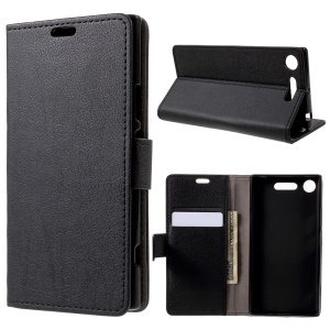 Wallet Leather Stand Case for Sony Xperia XZ1 - Black