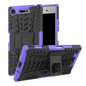 For Sony Xperia XZ1 Tyre Pattern 2-in-1 TPU + PC Hybrid Mobile Protective Cover - Purple