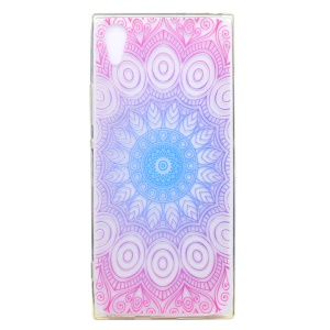 Ultra-thin Patterned Soft TPU Back Phone Accessory Cover for Sony Xperia XA1 - Lotus