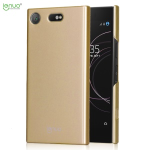 LENUO Leshield Serie Silky Touch Light Thin PC Hard Cover para Sony Xperia XZ1 Compact - Oro