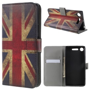 Pattern Printing Leather Wallet Stand Phone Case for Sony Xperia XZ1 - British Flag