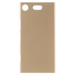 Rubberized PC Hard Mobile Phone Case for Sony Xperia XZ1 Compact - Gold
