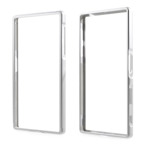 2-in-1 Slide-on Metal Bumper Frame for Sony Xperia Z5 / Z5 Dual - Silver