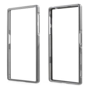2-in-1 Slide-on Aluminum Alloy Metal Bumper for Sony Xperia Z5 / Z5 Dual - Grey