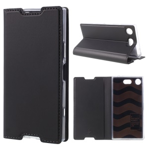 DUX DUCIS Skin Pro Series Stand Leather Casing para Sony Xperia XZ1 Compact - cinza