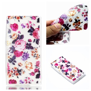 Pattern Printing TPU Case for Sony Xperia XZ1 Compact - Vivid Flowers