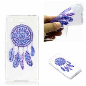 Pattern Printing TPU Soft Case for Sony Xperia XZ1 Compact - Dream Catcher