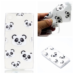 Pattern Printing TPU Shell Cover Case for Sony Xperia XZ1 Compact - Panda Pattern
