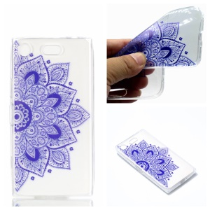Pattern Printing TPU Cell Phone Case for Sony Xperia XZ1 Compact - Henna Lotus