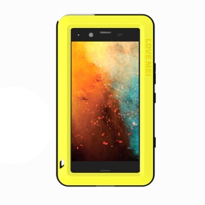 LOVE MEI for Sony Xperia XZ1 Compact Shockproof Splash-proof Dirt-proof Defender Phone Casing - Yellow