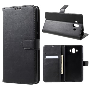 Retro Style Crazy Horse Wallet Stand Leather Case for Huawei Mate 10 - Black