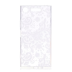 Pattern Printing TPU Flexible Phone Casing Cover for Sony Xperia XZ1 Compact - Flowers Pattern