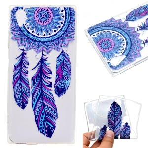 Pattern Printing TPU Case for Sony Xperia XA1 Plus - Dream Catcher