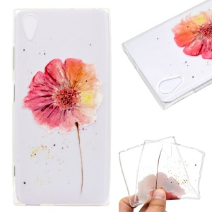 Pattern Printing TPU Cover Case for Sony Xperia XA1 Plus - Vivid Flower