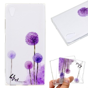 Pattern Printing TPU Shell Cover for Sony Xperia XA1 Plus - Dandelion Pattern