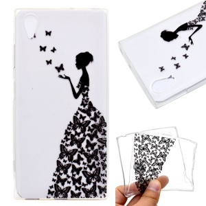 Pattern Printing TPU Flexible Case for Sony Xperia XA1 Plus - Beauty Pattern