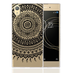 Mandala Flower TPU + PC Combo Phone Shell for Sony Xperia XA1 Plus - Black