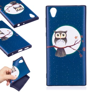 Embossment Pattern TPU Mobile Phone Case Accessory for Sony Xperia L1 - Owl On Branch
