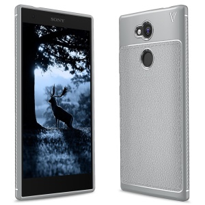 IVSO Gentry Series Litchi Texture Leather Coated TPU Cover for Sony Xperia L2 - Grey