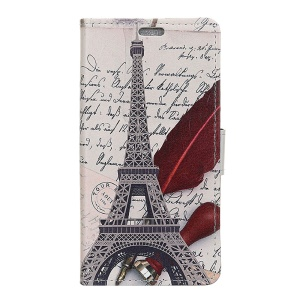 Eiffel Tower and Quill-pen
