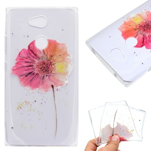 Pattern Printing Soft TPU Mobile Phone Back Case for Sony Xperia L2 - Flower