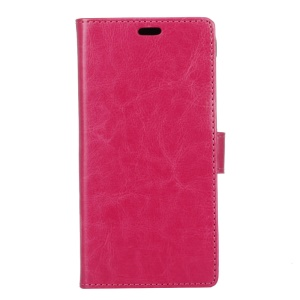 Crazy Horse Texture Wallet Stand Leather Mobile Case for Sony Xperia L2 - Rose
