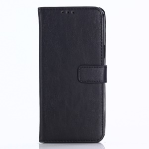For Samsung Galaxy S9 G960 Retro Style Leather Wallet Stand Case - Black