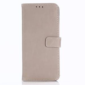 For Samsung Galaxy S9 G960 Retro Style Leather Wallet Stand Cover - Beige