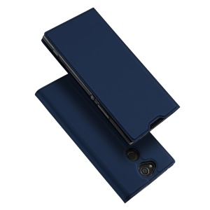DUX DUCIS Skin Pro Series Leather Cover with Card Slot for Sony Xperia XA2 - Blue