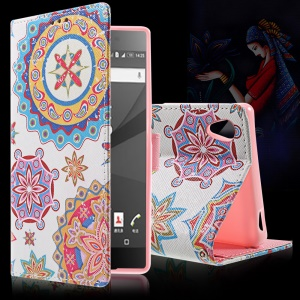 Callfree Wallet Leather Shell Stand for Sony Xperia Z5 / Z5 Dual - Retro Union Jack