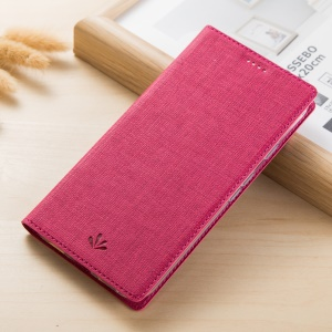 VILI DMX Style Cross Texture Leather Card Slot Phone Shell for Sony Xperia XA2 - Rose