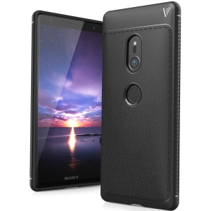 IVSO Gentry Series Leather Coated TPU Case for Sony Xperia XZ2 - Black