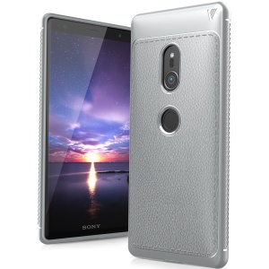 IVSO Gentry Series Leather Coated TPU Shell Case for Sony Xperia XZ2 - Grey