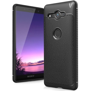 IVSO Gentry Series Leather Coated Soft TPU Casing for Sony Xperia XZ2 Compact - Black