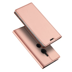 DUX DUCIS Skin Pro Series PU Leather Stand Case for Sony Xperia XZ2 - Rose Gold