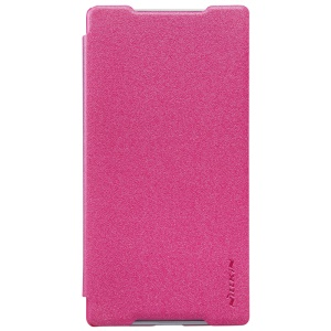 NILLKIN Sparkle Series Leather Protective Case for Sony Xperia Z5 / Z5 Dual - Rose