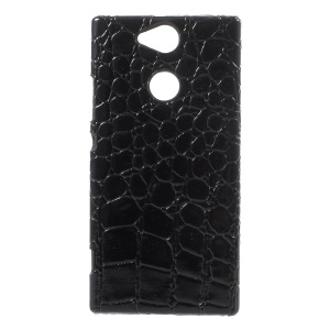 PU Leather Skin PC Cellphone Cover for Xperia Xa2 - Crocodile Texture