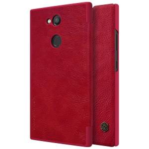 NILLKIN Qin Series Card Slot Leather Mobile Case for Sony Xperia L2 - Red