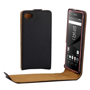 Vertical Flip Magnetic Leather Case for Sony Xperia Z5 Compact