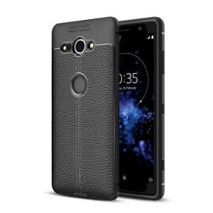 Litchi Grain Soft TPU Back Cover for Sony Xperia XZ2 Compact - Black
