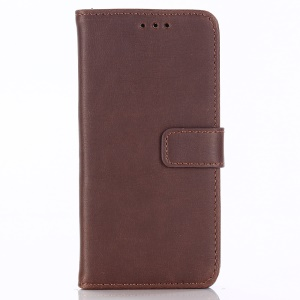 Retro Crazy Horse Stand Wallet Leather Mobile Casing for Sony Xperia XZ2 Compact - Coffee