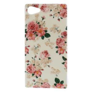 TPU Back Phone Case pour Sony Xperia Z5 Compact - Roses fleuries