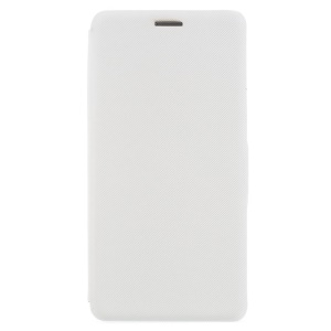 For Sony Xperia L1 Cloth Texture Leather Magnetic Wallet Stand Cover - White