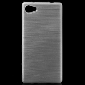 Glossy Outer Brushed Inner TPU Shell Case for Sony Xperia Z5 Compact - White