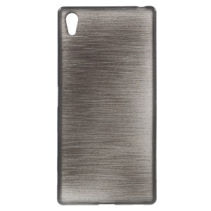 Glossy Outer Brushed Inner TPU Case for Sony Xperia Z5 Premium / Premium dual - Black